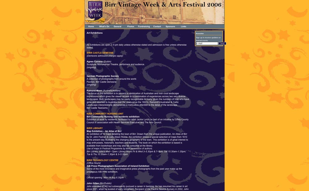 Birr Arts Festival (part of Birr Vintage Week), Birr Co. Offaly
